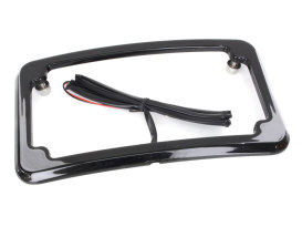 Curved Number Plate Frame with Number Plate Light Only - Black.