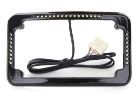 Curved Slick Signal Run/Turn/Brake Number Plate Frame Black