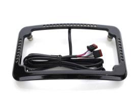 Curved Slick Signal Run, Turn, Brake & Number Plate Frame - Black. Fits Softail 2018up.