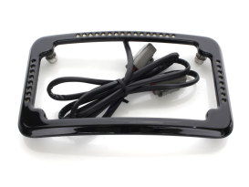 Curved Slick Signal Run/Turn/Brake Number Plate Frame Softail 2011-2017 – Black
