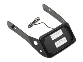 Tail Tidy Fender Eliminator Kit - Black With Number Plate Light Only. Fits Dyna Wide Glide 2010-2017.