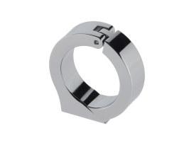 Cup Mounting Bracket - Chrome. Fits 1-1/4in. Diameter Handlebars using Dakota 1-7/8in. or 2-1/16in. Gauge Cup.