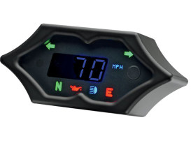 4-1/4in. x 2in. Spike KPH Speedometer - Black.