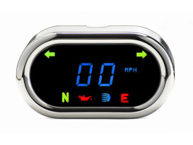 3-1/2in. x 2in. Classic KPH Speedometer - Chrome.