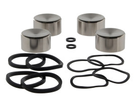 Front & Rear Caliper Rebuild Kit with Pistons & Seals. Fits Big Twin 2000-2007 & Sportster 2000-2003.