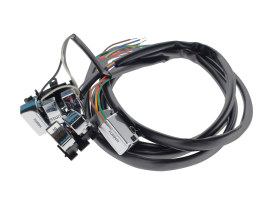 48in. Handlebar Wiring Harness - Chrome Switches. Fits Big Twin & Sportster 1982-1995.