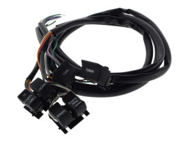 48in. Handlebar Wiring Harness - Black Switches. Fits Big Twin & Sportster 1982-1995.