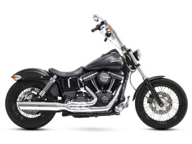 Fat Cat 2-into-1 Exhaust with Chrome Finish. Fits Dyna 2006-2017.