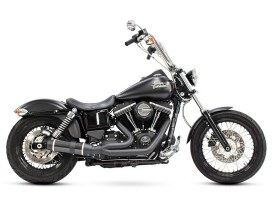 Bob Cat 2-into-1 Exhaust with Black Finish & Carbon Fibre Sleeve Muffler. Fits Dyna 2006-2017.