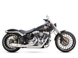 Bob Cat 2-into-1 Exhaust - Chrome with Aluminium Sleeve Muffler. Fits Softail Breakout 2013-2017.