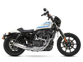 Bob Cat 2-into-1 Exhaust with Chrome Finish & Aluminuim Sleeve Muffler. Fits Sportster 2004up.