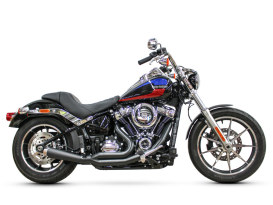 Abuelo Gato 2-into-1 Exhaust with Black Finish & Chrome End Cap. Fits Softail 2018up.