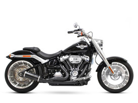 Bob Cat 2-into-1 Exhaust with Black finish & Black Satin Sleeve Muffler. Fits M8 Softail 2018up 240 Rear Tyre Models.