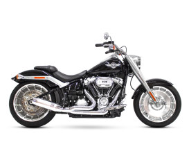Bob Cat 2-into-1 Exhaust - Chrome with Aluminium Sleeve Muffler. Fits Breakout & Fat Boy 2018up & FXDR 2019up.