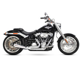 Abuelo Gato 2-into-1 Exhaust with Chrome Finish & Chrome End Cap. Fits M8 Softail 2018up 240 Rear Tyre Models.