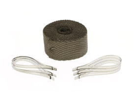 Titanium Heat Wrap. 2in. Wide x 25 Foot Roll with Locking Ties.