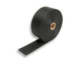 Black Titanium Heat Wrap. 2in. Wide x 25 Foot Roll.