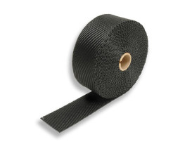 Black Titanium Heat Wrap. 2in. Wide x 25 Foot Roll with Locking Ties.