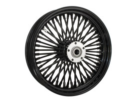 16in. x 3.5in. Mammoth Fat Spoke Rear Wheel - Gloss Black. Fits Softail 2000-2007, Dyna 2000-2005, Sportster 2000-2004 & Touring 2000-2001.