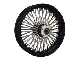 16in. x 3.5in. Mammoth Fat Spoke Rear Wheel - Gloss Black & Chrome. Fits Softail 2011up.