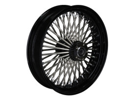 18in. x 4.25in. Mammoth Fat Spoke Rear Wheel - Gloss Black & Chrome. Fits Dyna 2012-2017, Sportster 2014up and Touring 2008.