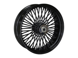 18in. x 5.5in. Mammoth Fat Spoke Rear Wheel - Gloss Black. Fits Dyna 2008-2017, Sportster 2008up and Touring 2008.