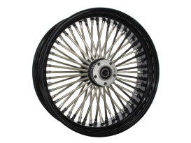 18in. x 5.5in. Mammoth Fat Spoke Rear Wheel - Gloss Black & Chrome. Fits Dyna 2012-2017, Sportster 2014up and Touring 2008.