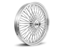 18in. x 5.5in. Rear Mammoth 52 Fat Spoke Wheel - Chrome. Fits Softail 2011up.