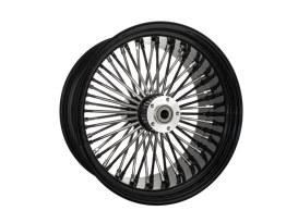18in. x 8.5in. Mammoth Fat Spoke Rear Wheel - Gloss Black & Chrome. Fits Softail Breakout 2013-2017 & Rocker 2011.