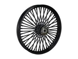 21in. x 2.15in. Mammoth Fat Spoke Front Wheel - Gloss Black. Fits FX Softail 2000-2015, Softail Fat Boy 2007 & Dyna Wide Glide 2000-2005.