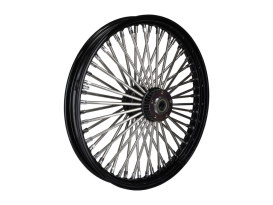 21in. x 2.15in. Mammoth Fat Spoke Front Wheel - Gloss Black & Chrome. Fits FX Softail 2000-2015, Softail Fat Boy 2007 & Dyna Wide Glide 2000-2005.