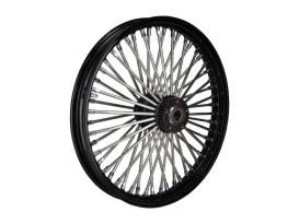 21in. x 2.15in. Mammoth Fat Spoke Front Wheel - Gloss Black & Chrome. Fits FX Softail 2000-2015, Softail Fat Boy 2007 & Dyna Wide Glide 2000-2005.