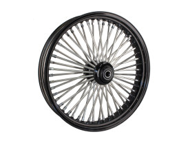 21in. x 3.5in. Mammoth Fat Spoke Front Wheel - Gloss Black & Chrome. Fits FL Softail 2000up & FX Springer 2000up.