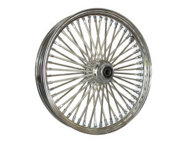21in. x 3.5in. Mammoth Fat Spoke Front Wheel - Chrome. Fits FL Softail 2000up & FX Springer 2000up.