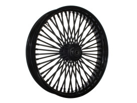 21in. x 3.5in. Mammoth Fat Spoke Front Wheel - Gloss Black. Fits Touring 2008up, Softail Fat Bob 2018up & Softail FXDR 2019-2020.