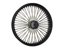 21in. x 3.5in. Mammoth Fat Spoke Front Wheel - Gloss Black & Chrome. Fits Touring 2000up, Softail Fat Bob 2018up & Softail FXDR 2019-2020.