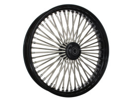 21in. x 3.5in. Mammoth Fat Spoke Front Wheel - Gloss Black & Chrome. Fits Mid Glide Dyna 2012-2017 & FX Softail 2018up.