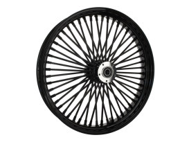23in. x 3.5in. Mammoth Fat Spoke Front Wheel - Gloss Black. Fits Touring 2000up, Softail Fat Bob 2018up & Softail FXDR 2019-2020.