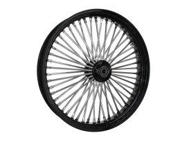 23in. x 3.5in. Mammoth Fat Spoke Front Wheel - Gloss Black & Chrome. Fits Mid Glide Dyna 2006-2017 & FX Softail 2018up.