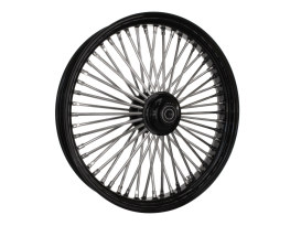 23in. x 3.5in. Mammoth Fat Spoke Front Wheel - Gloss Black & Chrome. Fits FL Softail 2000up & FX Springer 2000up.