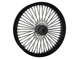 23in. x 3.5in. Mammoth Fat Spoke Front Wheel - Gloss Black & Chrome. Fits Touring 2000up, Softail Fat Bob 2018up & Softail FXDR 2019-2020.