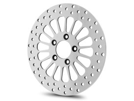 11.8in. Front Super Spoke SS2 Disc Rotor - Polished. Fits Dyna 2006-2017, Softail 2015up, Sportster 2014up & Touring 2008up.