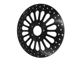 11.8in. Front Super Spoke SS2 Disc Rotor - Black. Fits Dyna 2006-2017, Softail 2015up, Sportster 2014up & Touring 2008up.