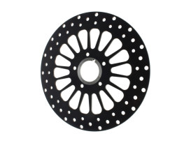 11.5in. Front Super Spoke SS2 Disc Rotor - Black. Fits Big Twin & Sportster 2000up.