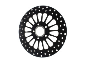 11.5in. Rear Super Spoke SS2 Disc Rotor - Black. Fits Big Twin & Sportster 2000up.