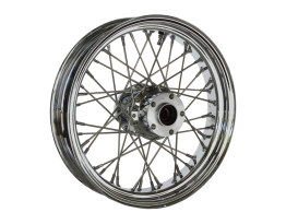 16in. x 3.5in. Rear 40 Spoke Cross Laced Wheel - Chrome. Fits Softail 1986-1999, Dyna 1991-1999, FXR 1986-1994 & Sportster 1986-1999.