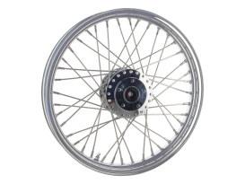 19in. x 2.15in. Front 40 Spoke Cross Laced Wheel - Chrome. Fits Narrow Glide Dyna 1991-1999, FXR 1984-1994 & Sportster 1984-1999.