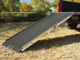 96in. x 36in. x 4in. Alloy Motorcycle Ramp, USA Made.