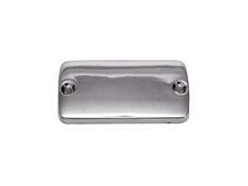 Master Cylinder Cap - Chrome. Fits Front on Big Twin & Sportster 1982-1995 & Rear on FLST Softail & Sportster 1987up.