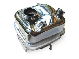 Oil Tank - Chrome. Fits Big Twin 1965-1982 with 4 Speed Transmission & Swing Arm.